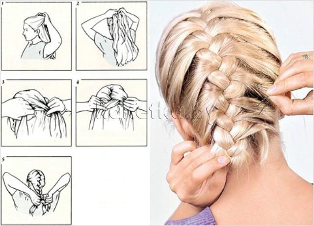 Как сделать самой себе косичку на короткие волосы