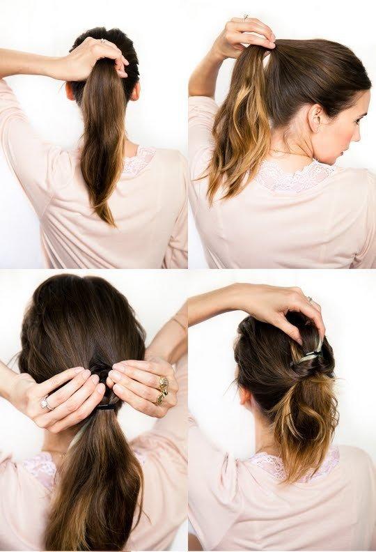 Прически на длинные волосы для тех кто не умеет