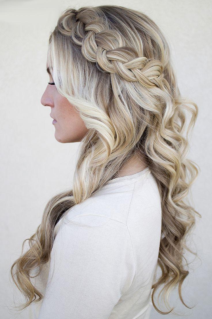Прическа на длинные густые волосы своими руками