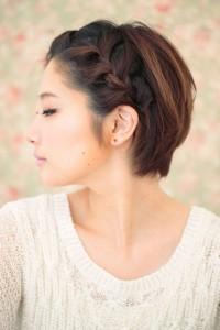 коса спереди
