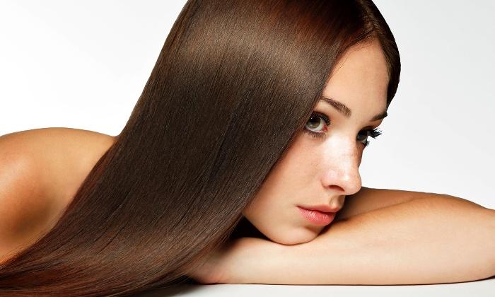выпрямленные волосы
