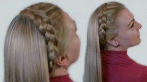 коса полумесяцем