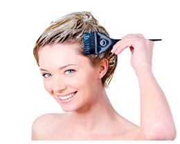 наносим маску на волосы