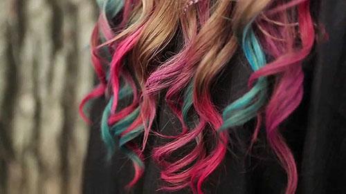 мелки прекрасно смотрятся на волосах