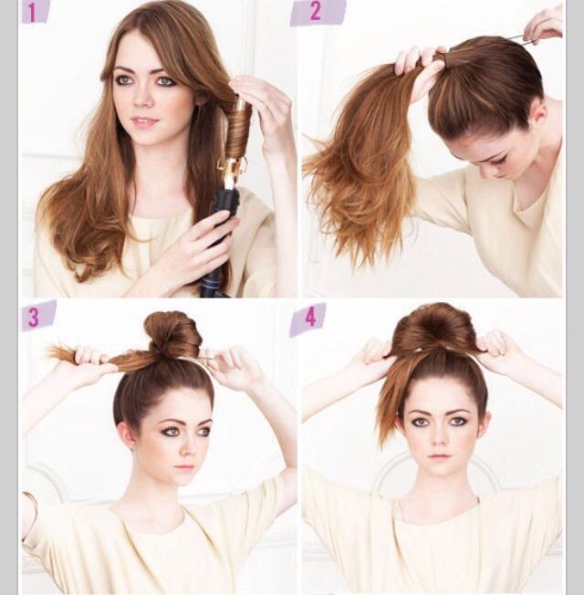 Романтичный пучок для волос