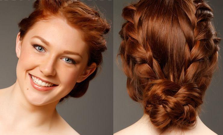 Косы для средних волос своими руками видео